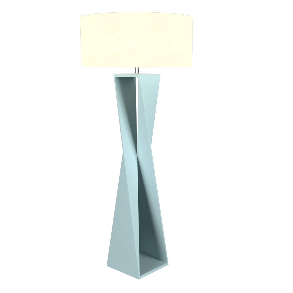 Floor Lamp Accord Spin 3029 - Facetada Line Accord Lighting | Satin Blue