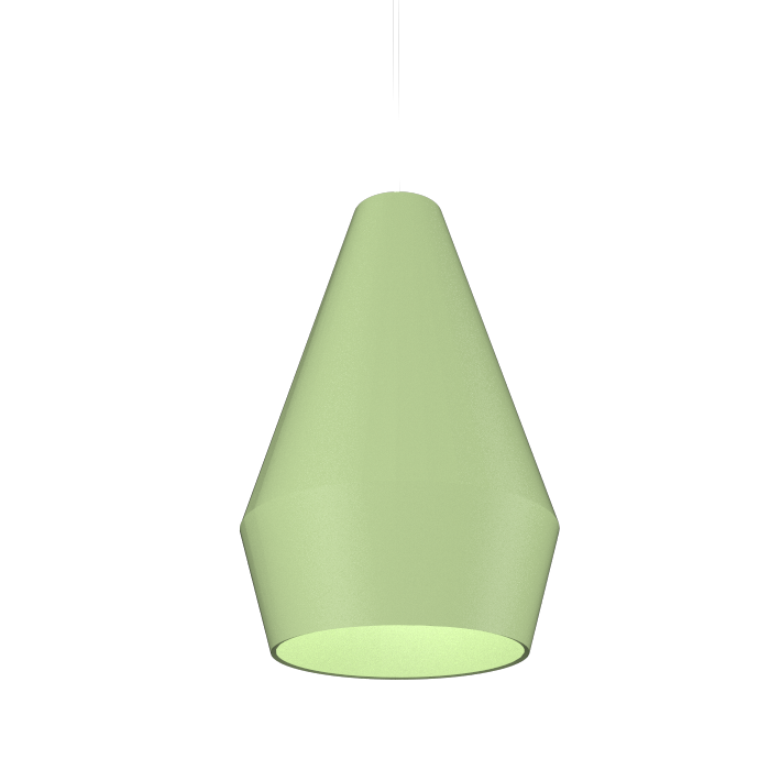 Pendant Lamp Cone Duo 1344 - Cone DuoLine Accord Lighting | 30. Olive Green