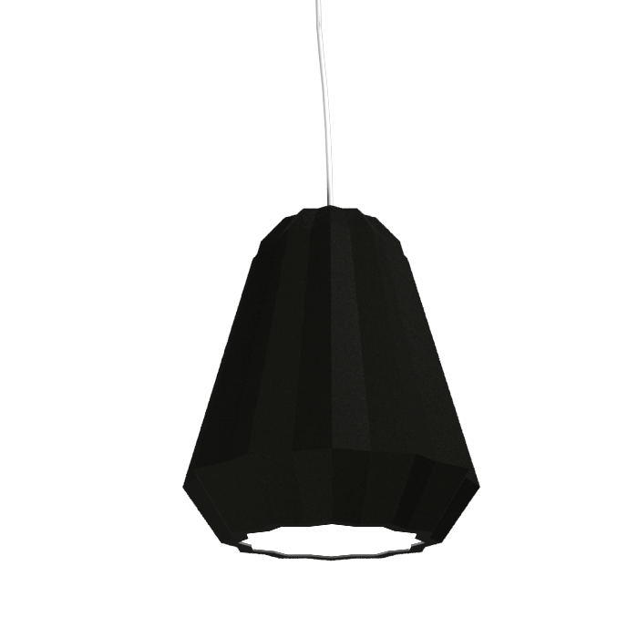 Pendant Lamp Plissé 1340 - PlisséLine Accord Lighting | 02. Matte Black