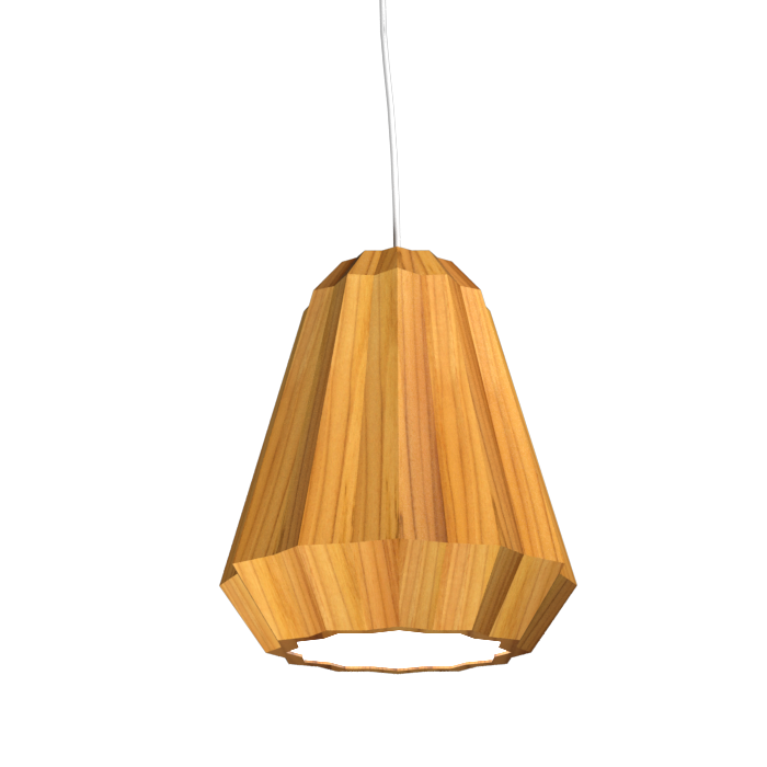 Pendant Lamp Plissé 1340 - PlisséLine Accord Lighting | 12. Teak