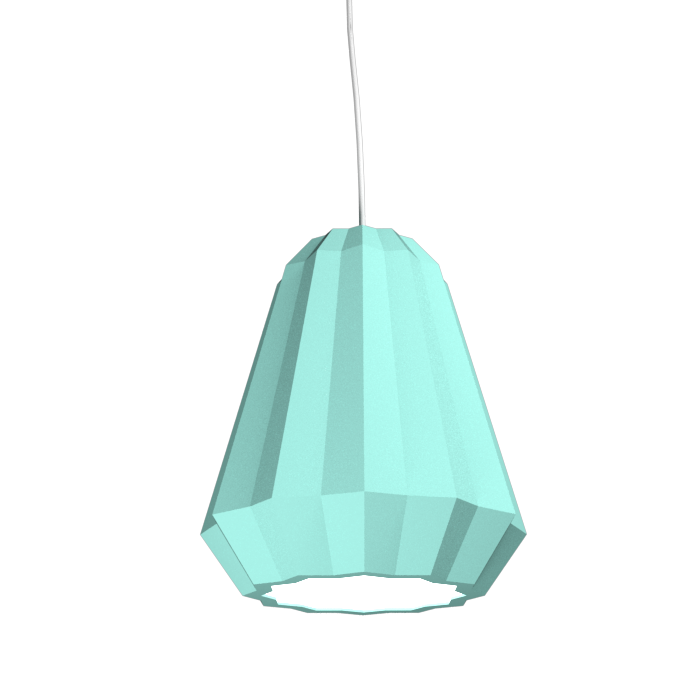 Pendant Lamp Plissé 1340 - PlisséLine Accord Lighting | 13. Bluish Green