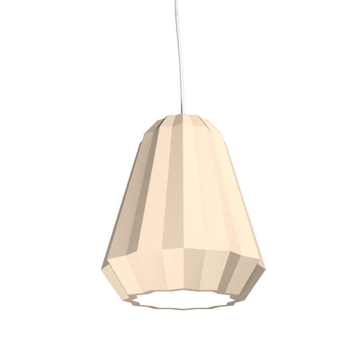 Pendant Lamp Plissé 1340 - PlisséLine Accord Lighting | 15. Cappuccino