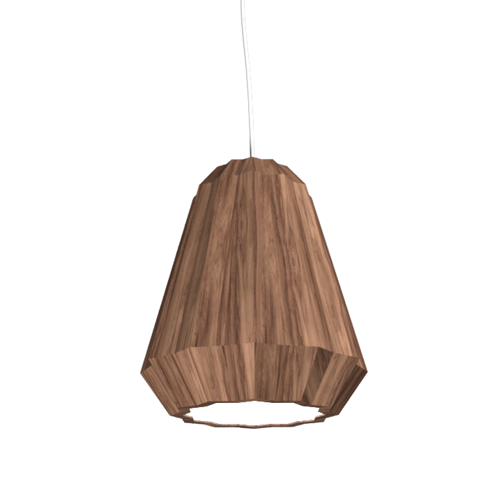Pendant Lamp Plissé 1340 - PlisséLine Accord Lighting | 18. American Walnut