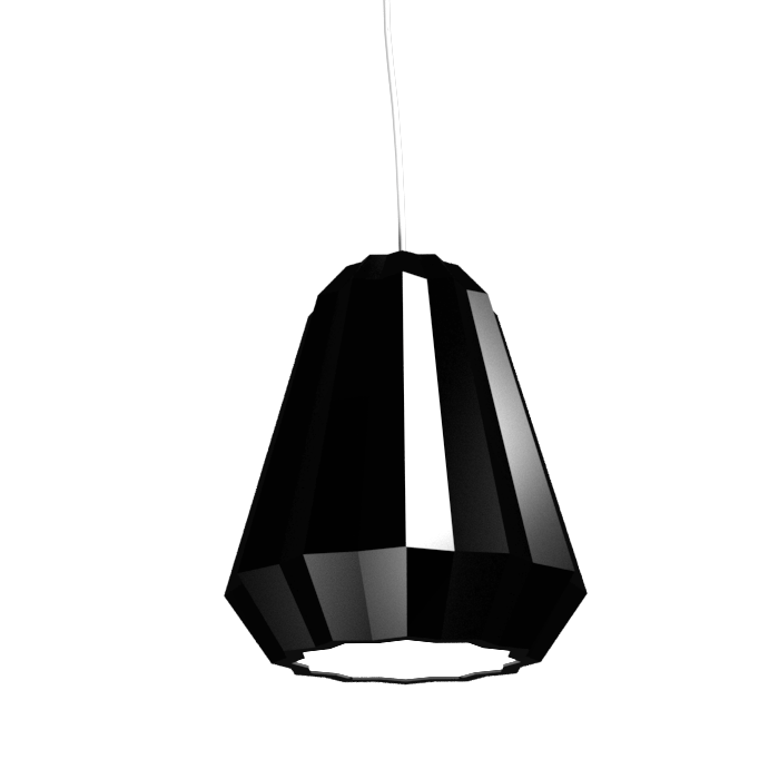 Pendant Lamp Plissé 1340 - PlisséLine Accord Lighting | 22. Glossy Black