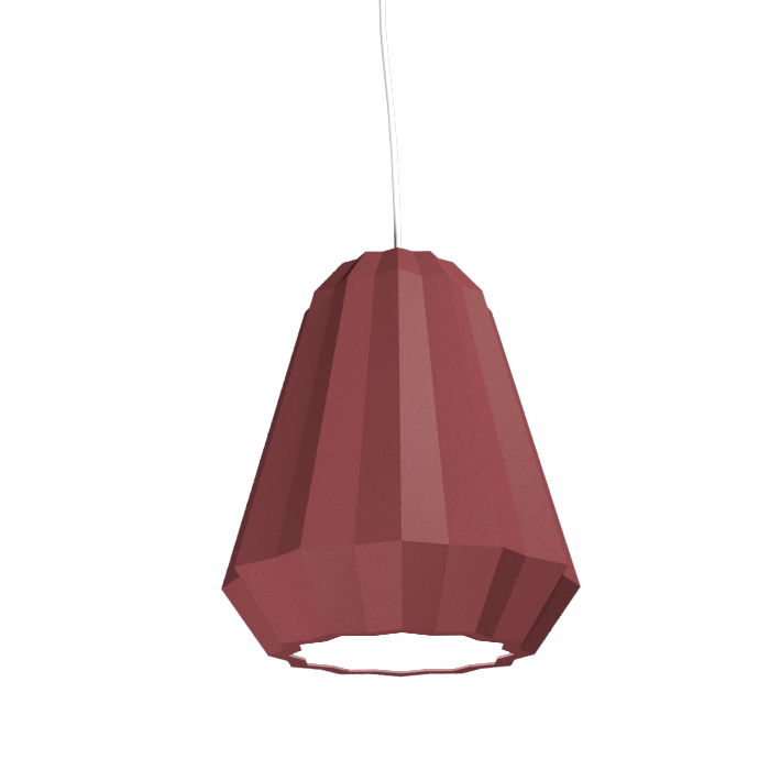 Pendant Lamp Plissé 1340 - PlisséLine Accord Lighting | 24. Marsala