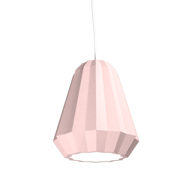 Pendant Lamp Plissé 1340 - PlisséLine Accord Lighting | 26. Light Pink
