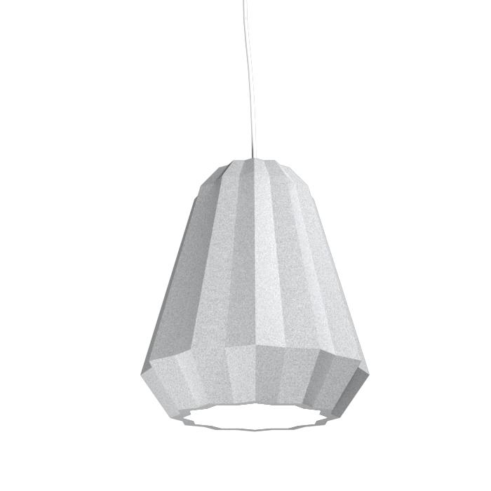 Pendant Lamp Plissé 1340 - PlisséLine Accord Lighting | 28. Silver