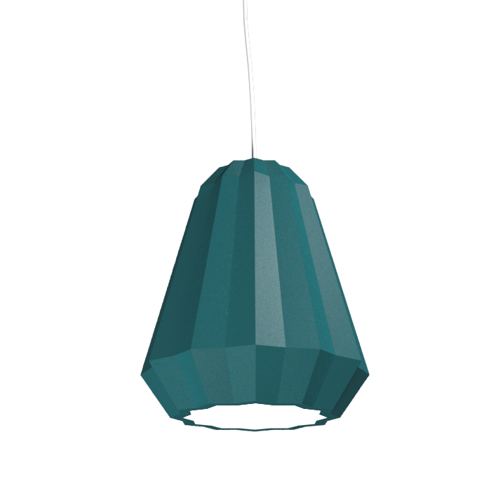 Pendant Lamp Plissé 1340 - PlisséLine Accord Lighting | 29. Teal