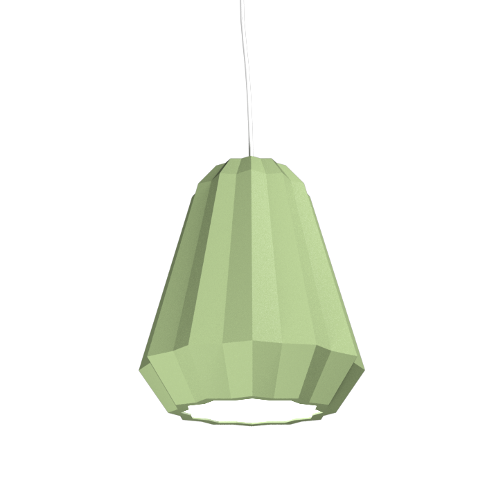 Pendant Lamp Plissé 1340 - PlisséLine Accord Lighting | 30. Olive Green