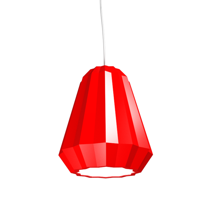 Pendant Lamp Plissé 1340 - PlisséLine Accord Lighting | 31. Ferrari Red