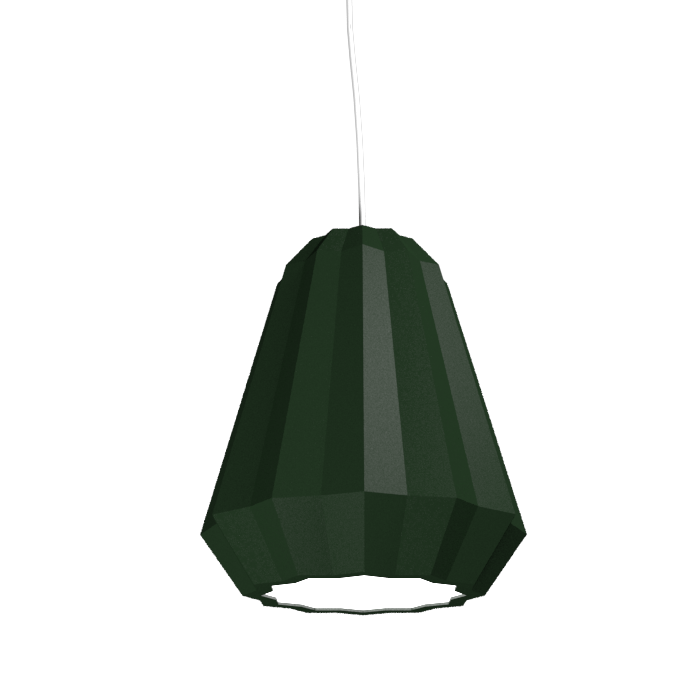 Pendant Lamp Plissé 1340 - PlisséLine Accord Lighting | 36. Emerald Green
