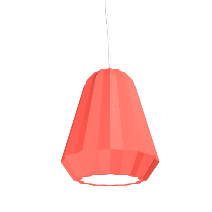 Pendant Lamp Plissé 1340 - PlisséLine Accord Lighting | 37. Coral