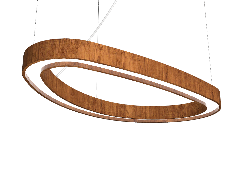 Pendant Lamp Accord Orgânico 1329 - Orgânica Line Accord Lighting | 06. Imbuia