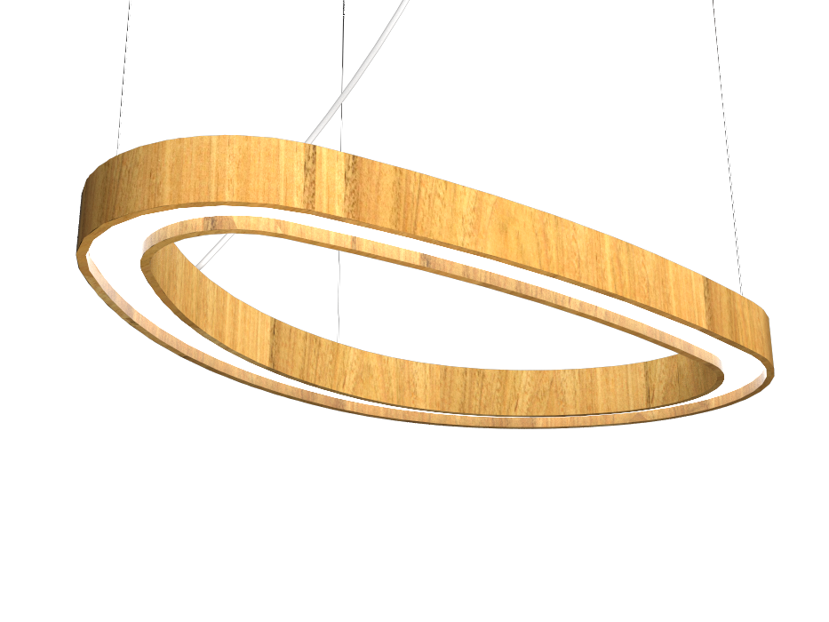 Pendant Lamp Accord Orgânico 1329 - Orgânica Line Accord Lighting | 09. Louro Freijó