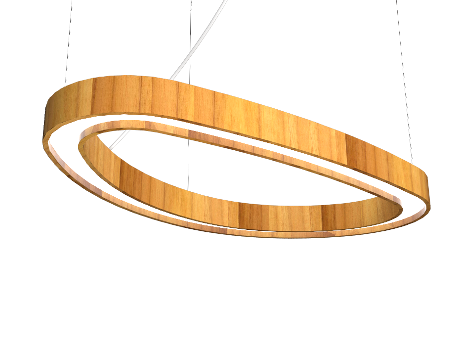 Pendant Lamp Accord Orgânico 1329 - Orgânica Line Accord Lighting | 12. Teak