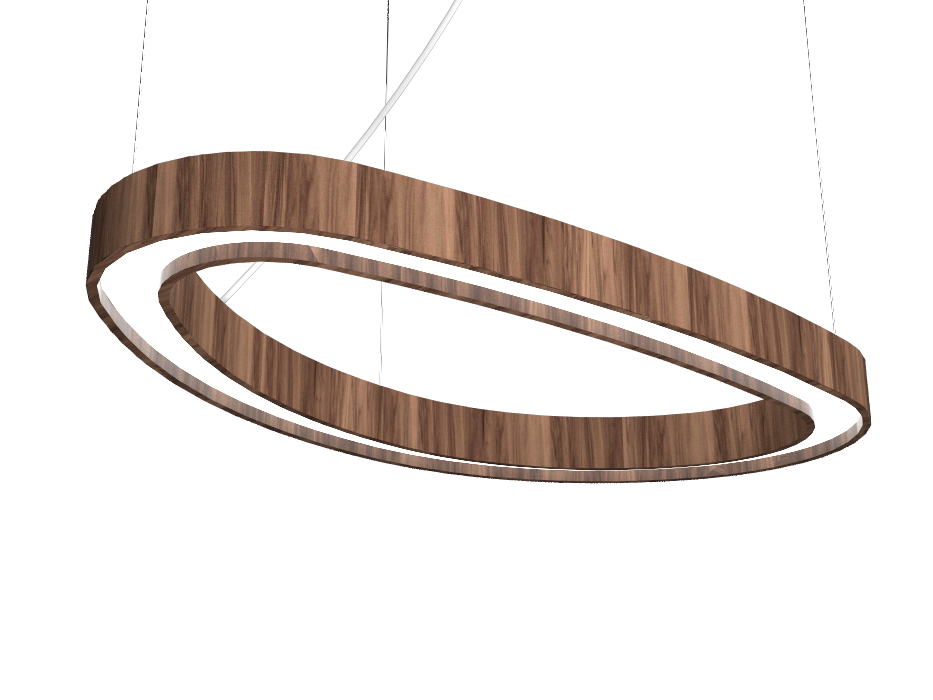 Pendant Lamp Accord Orgânico 1329 - Orgânica Line Accord Lighting | 18. American Walnut