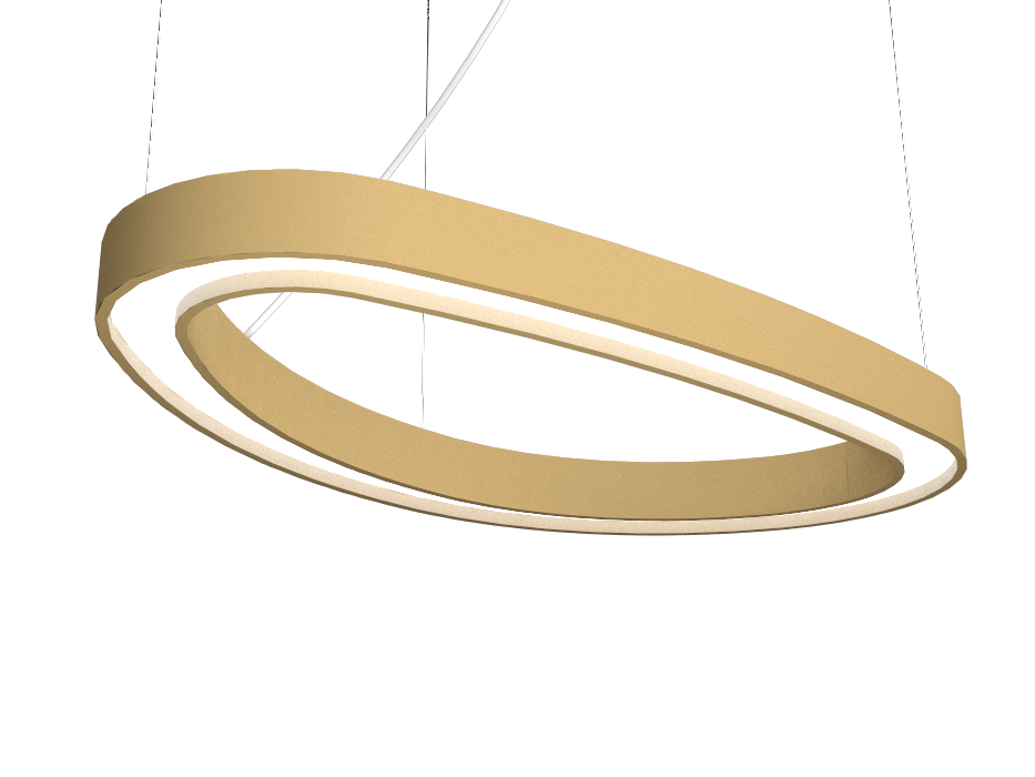 Pendant Lamp Accord Orgânico 1329 - Orgânica Line Accord Lighting | 27. Gold