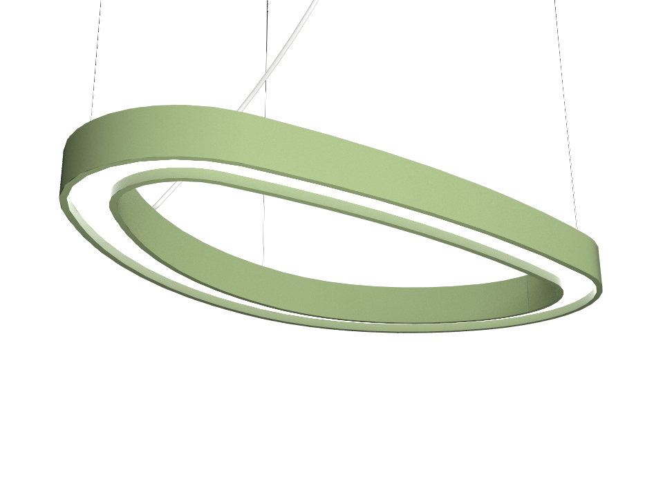 Pendant Lamp Accord Orgânico 1329 - Orgânica Line Accord Lighting | 30. Olive Green