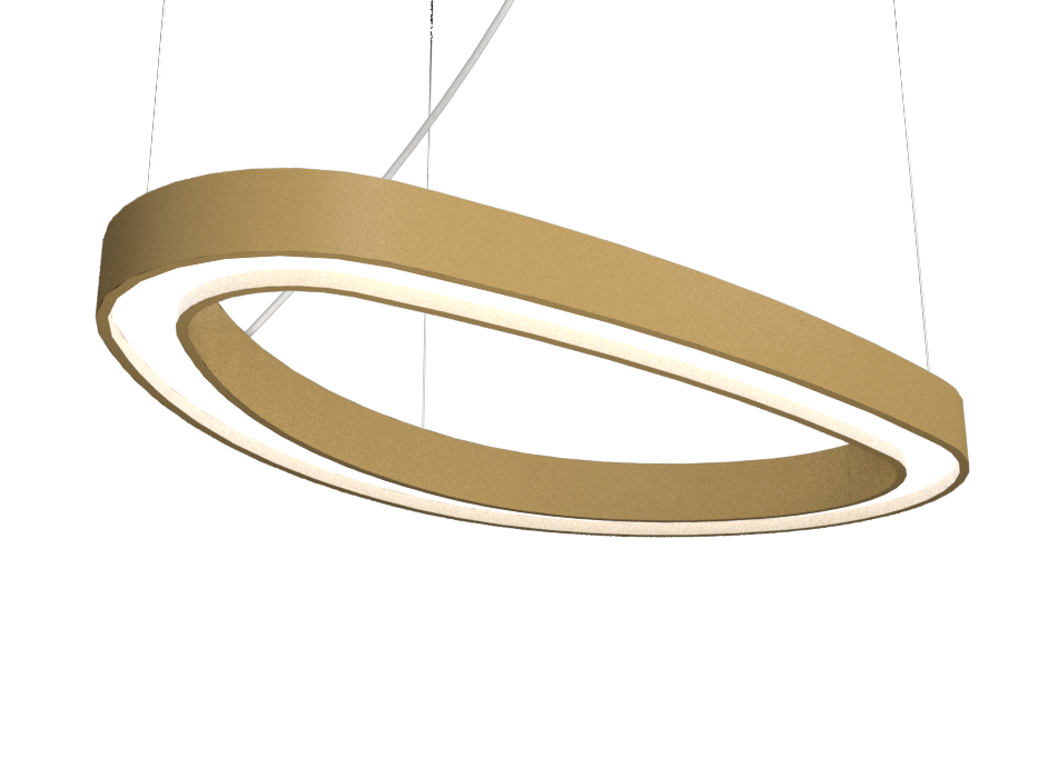 Pendant Lamp Accord Orgânico 1329 - Orgânica Line Accord Lighting | Pale Gold