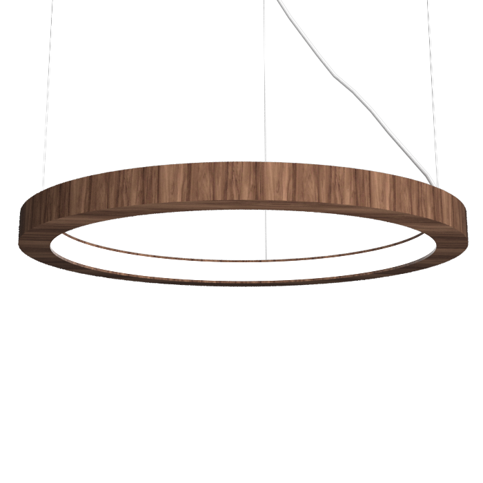Pendant Lamp Accord Frame 1415 - Frame Line Accord Lighting | 18. American Walnut