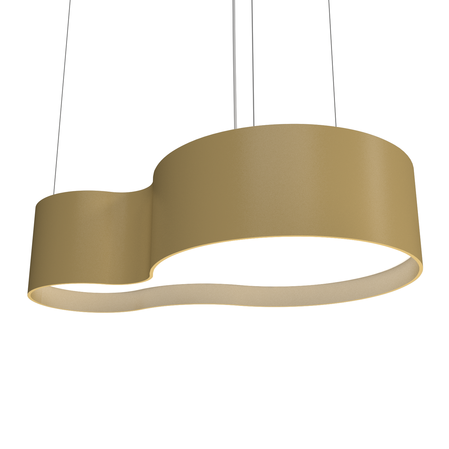Pendant Lamp Accord Orgânico 285 - Orgânica Line Accord Lighting | Pale Gold