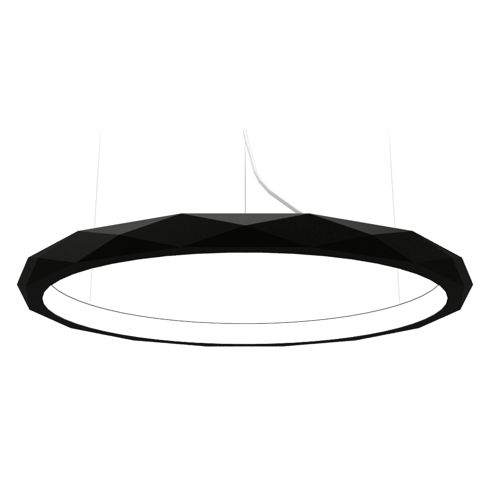 Pendant Lamp Accord Facetado 1354 - Facetada Line Accord Lighting | 02. Matte Black