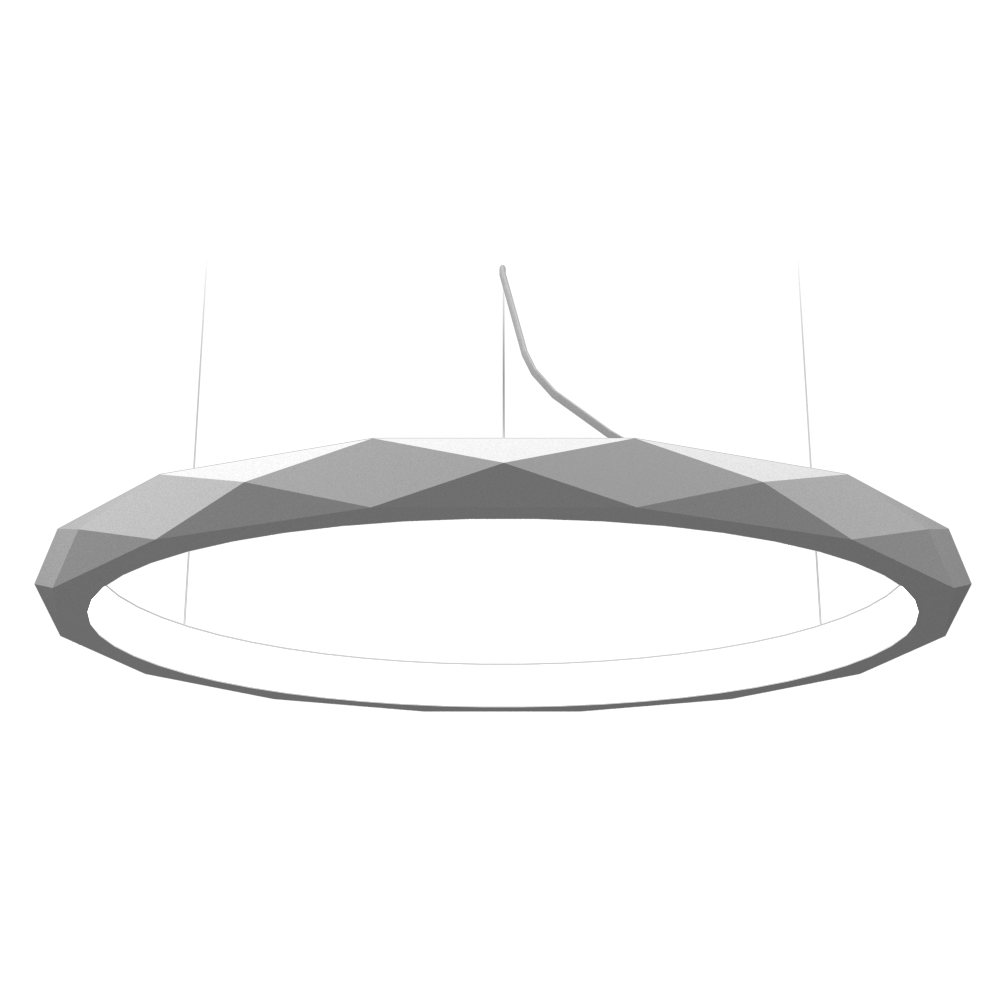 Pendant Lamp Accord Facetado 1354 - Facetada Line Accord Lighting | 07. White