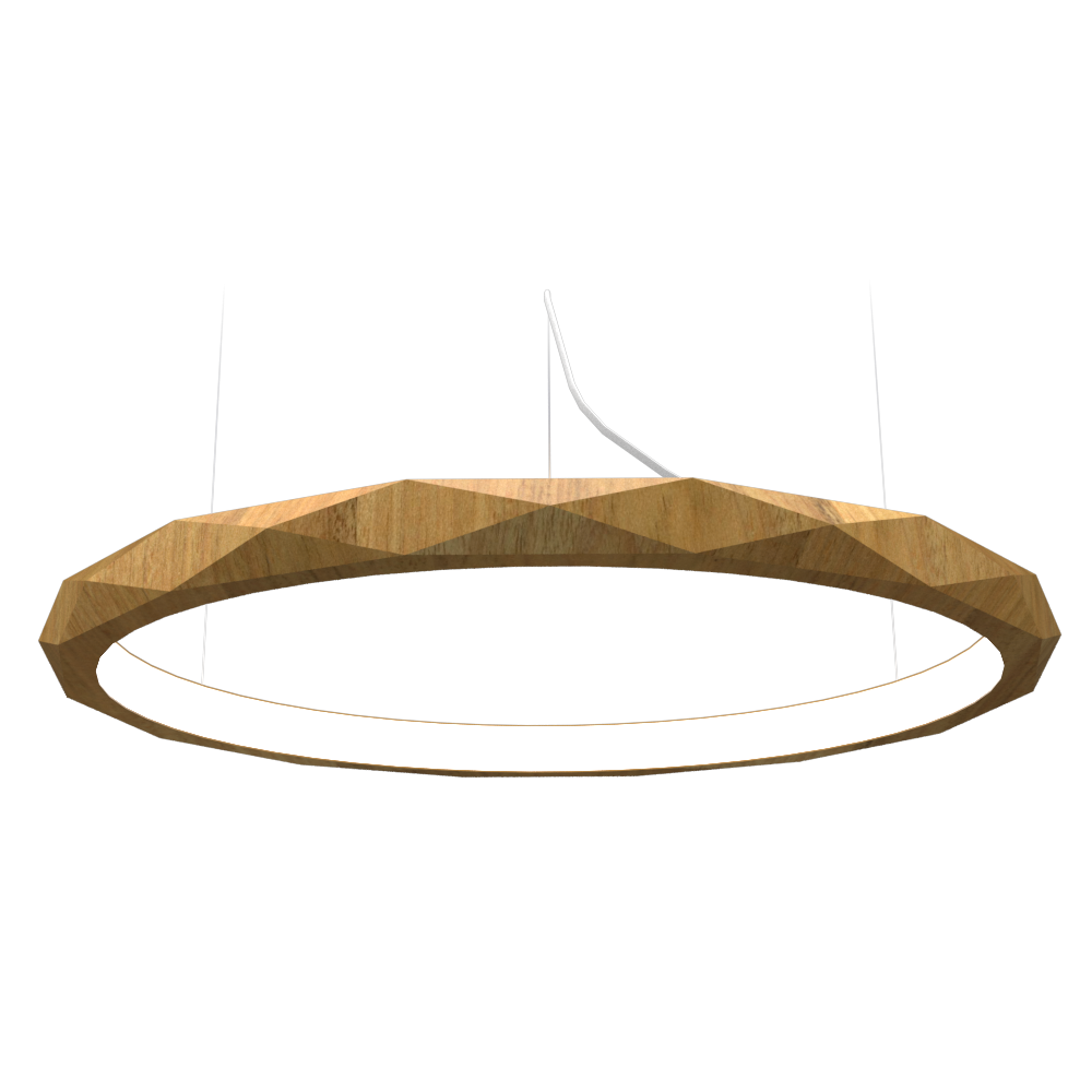 Pendant Lamp Accord Facetado 1354 - Facetada Line Accord Lighting | 09. Louro Freijó