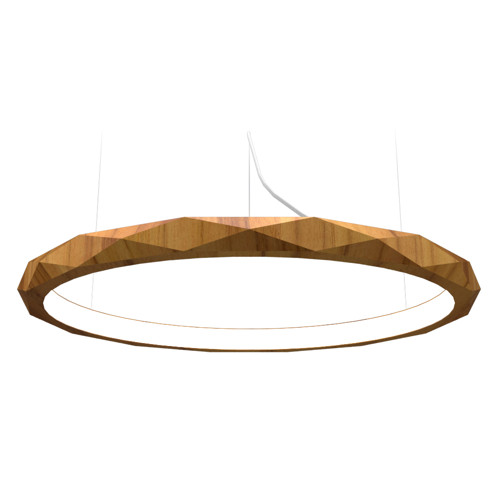 Pendant Lamp Accord Facetado 1354 - Facetada Line Accord Lighting | 12. Teak