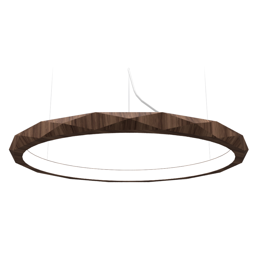 Pendant Lamp Accord Facetado 1354 - Facetada Line Accord Lighting | 18. American Walnut