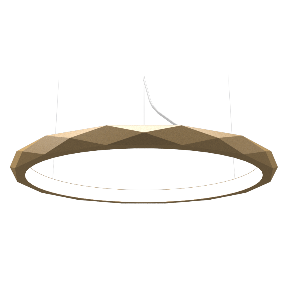 Pendant Lamp Accord Facetado 1354 - Facetada Line Accord Lighting | 27. Gold