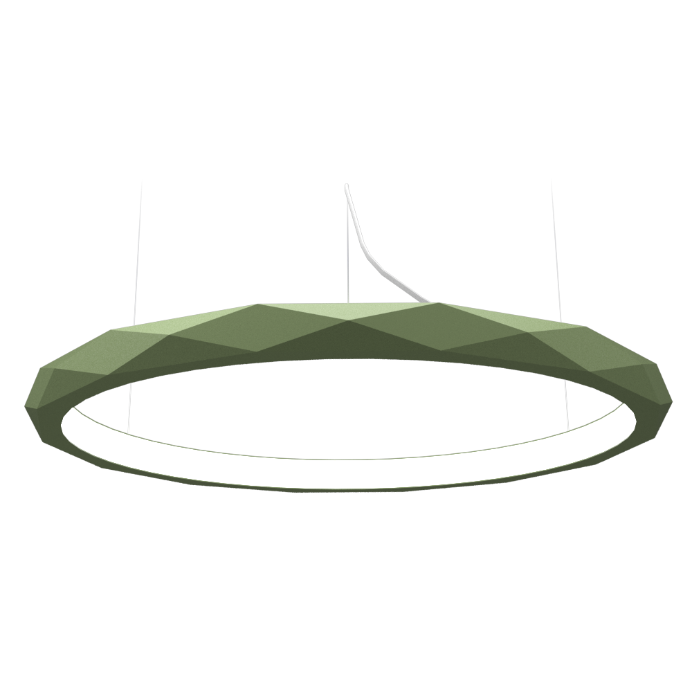 Pendant Lamp Accord Facetado 1354 - Facetada Line Accord Lighting | 30. Olive Green
