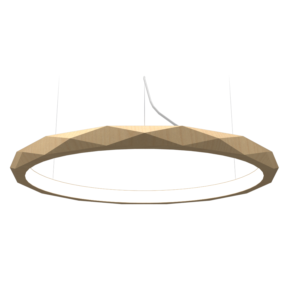 Pendant Lamp Accord Facetado 1354 - Facetada Line Accord Lighting | 34. Maple