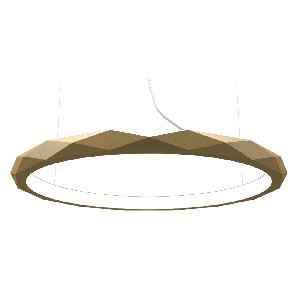 Pendant Lamp Accord Facetado 1354 - Facetada Line Accord Lighting | Pale Gold