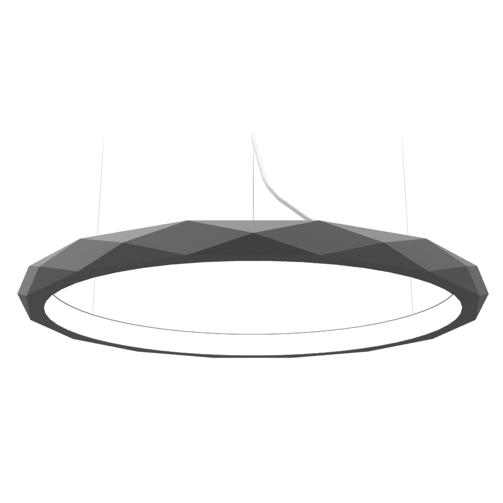 Pendant Lamp Accord Facetado 1354 - Facetada Line Accord Lighting | Lead Grey
