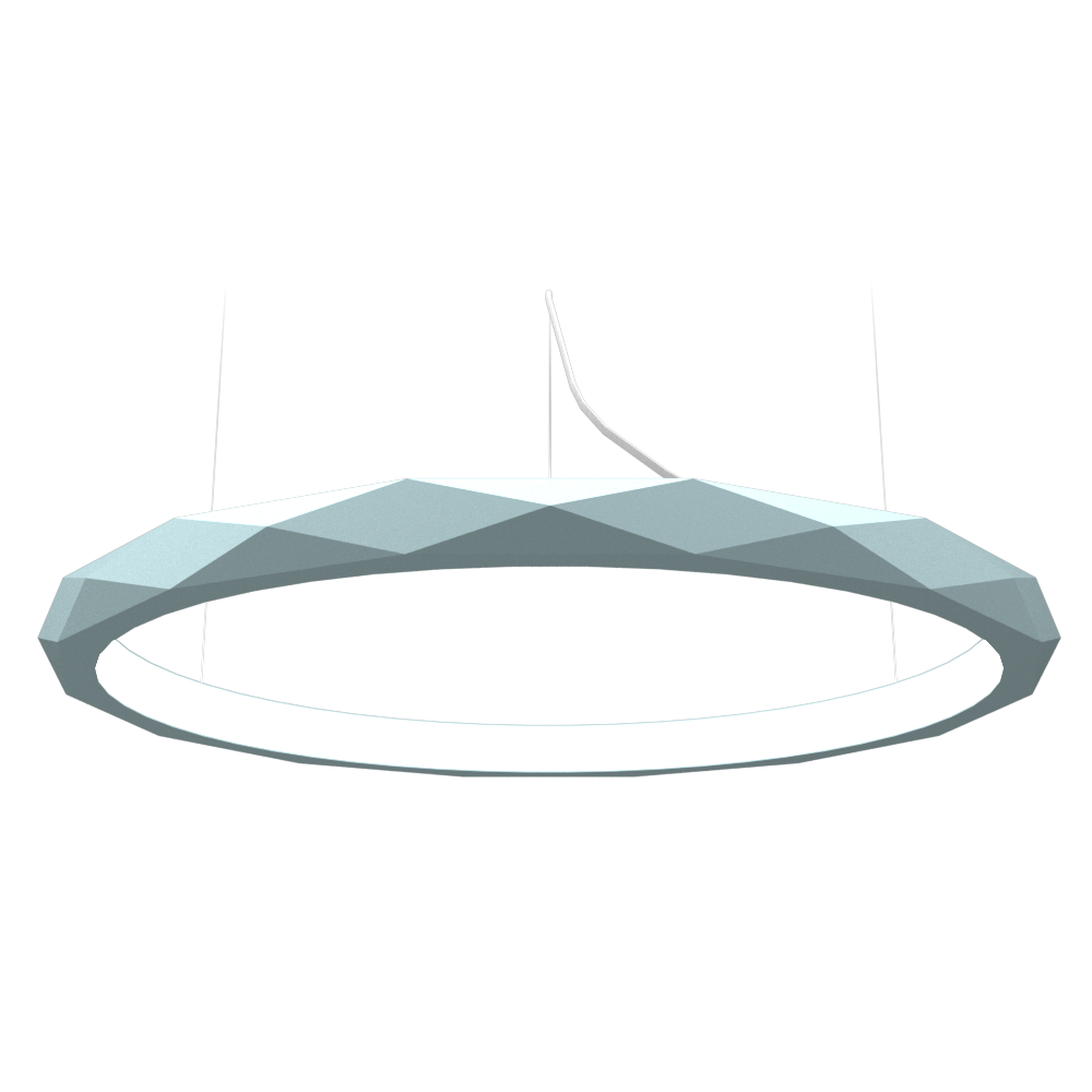 Pendant Lamp Accord Facetado 1354 - Facetada Line Accord Lighting | Satin Blue