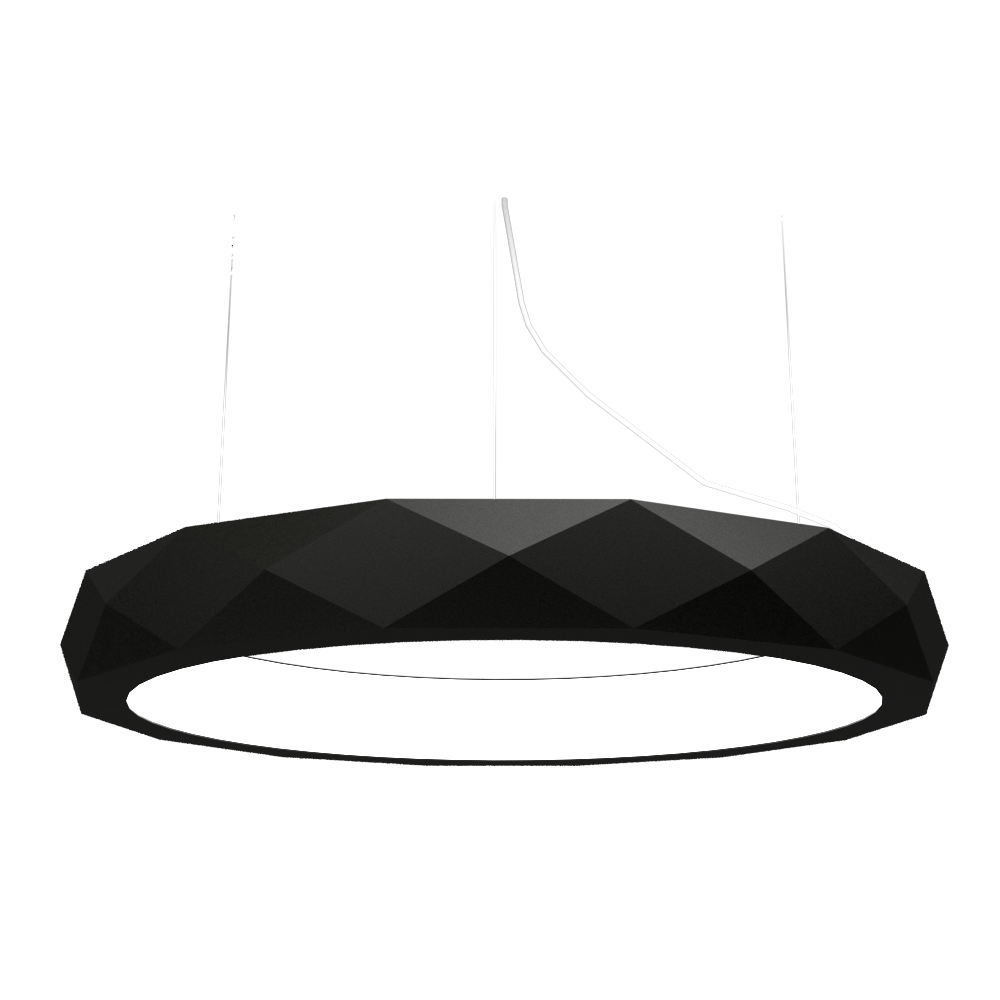 Pendant Lamp Accord Facetado 1357 - Facetada Line Accord Lighting | 02. Matte Black