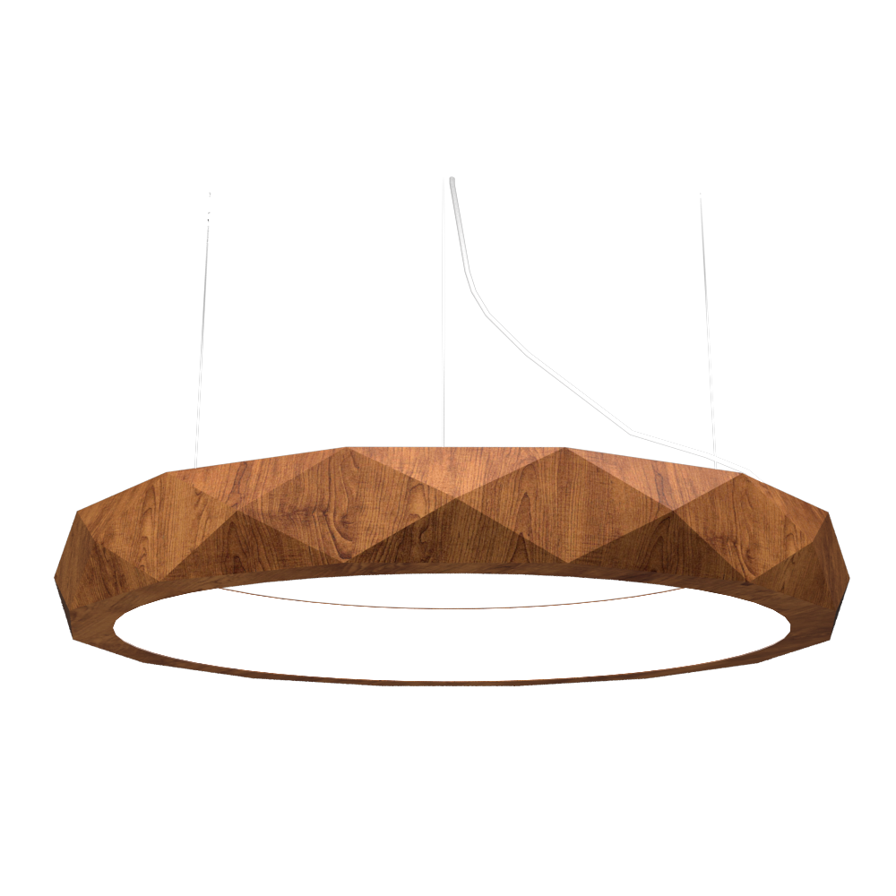 Pendant Lamp Accord Facetado 1357 - Facetada Line Accord Lighting | 06. Imbuia