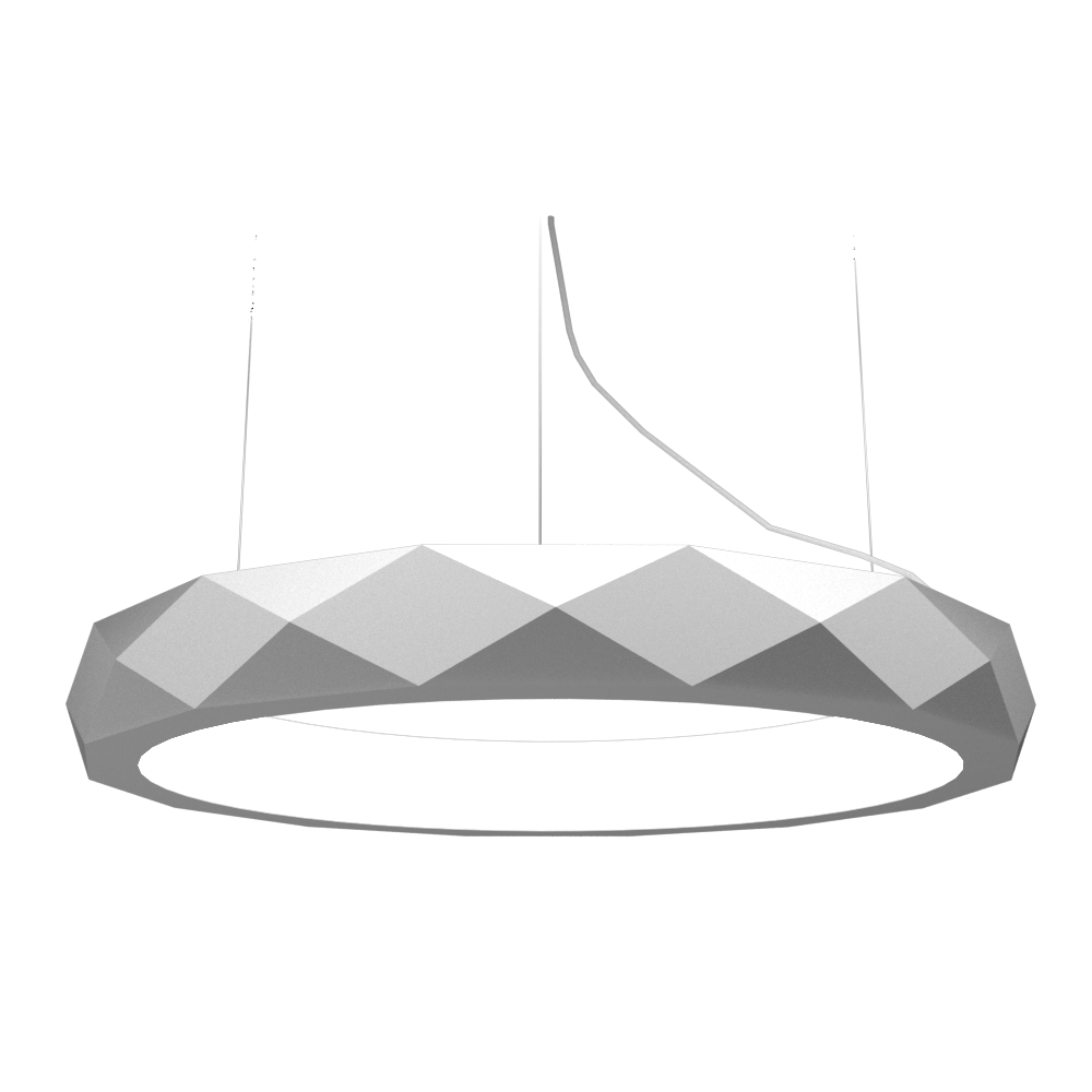Pendant Lamp Accord Facetado 1357 - Facetada Line Accord Lighting | 07. White