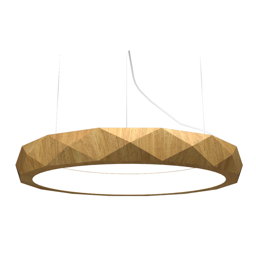 Pendant Lamp Accord Facetado 1357 - Facetada Line Accord Lighting | 09. Louro Freijó
