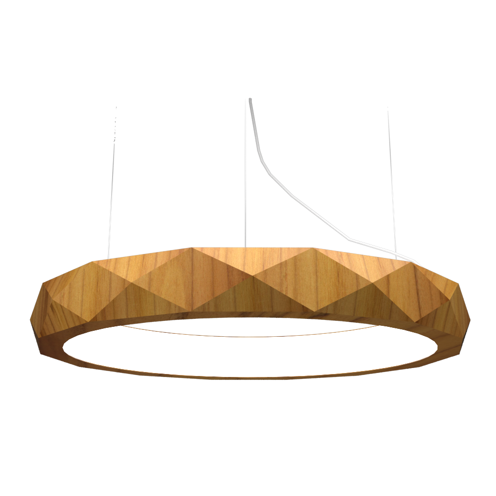 Pendant Lamp Accord Facetado 1357 - Facetada Line Accord Lighting | 12. Teak