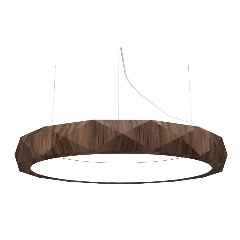 Pendant Lamp Accord Facetado 1357 - Facetada Line Accord Lighting | 18. American Walnut