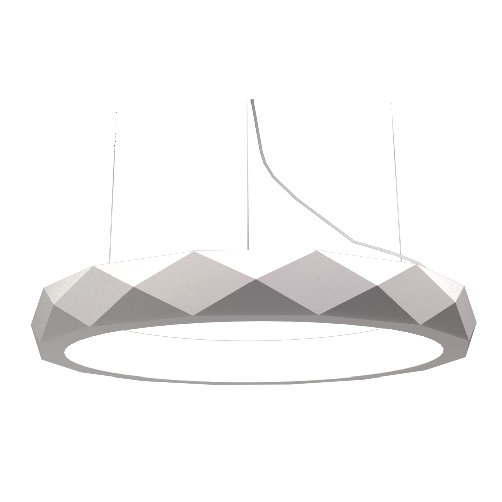Pendant Lamp Accord Facetado 1357 - Facetada Line Accord Lighting | 25. Iredescent White