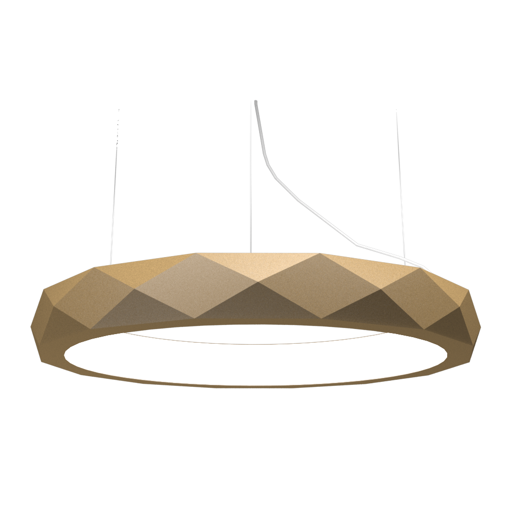 Pendant Lamp Accord Facetado 1357 - Facetada Line Accord Lighting | 27. Gold