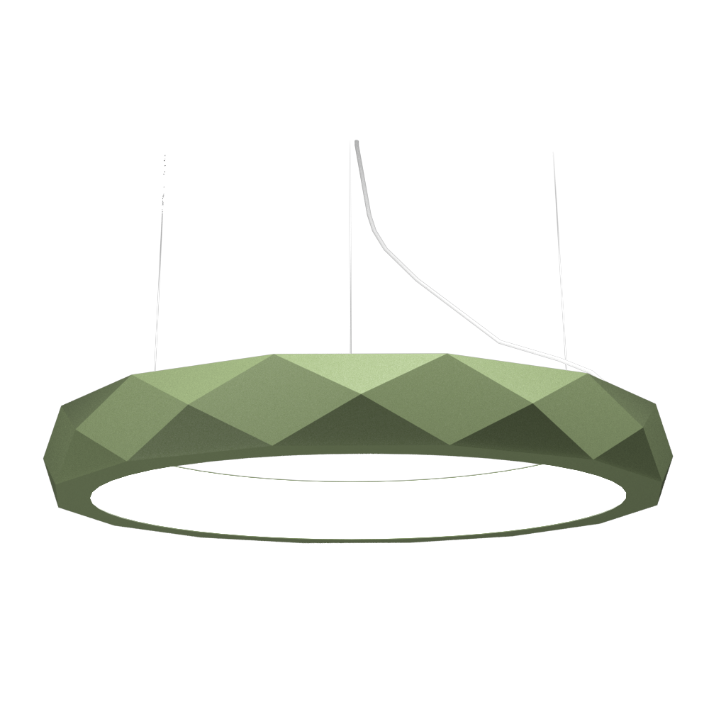 Pendant Lamp Accord Facetado 1357 - Facetada Line Accord Lighting | 30. Olive Green