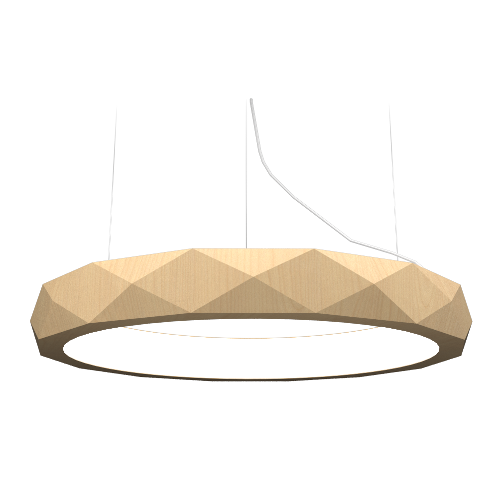 Pendant Lamp Accord Facetado 1357 - Facetada Line Accord Lighting | 34. Maple