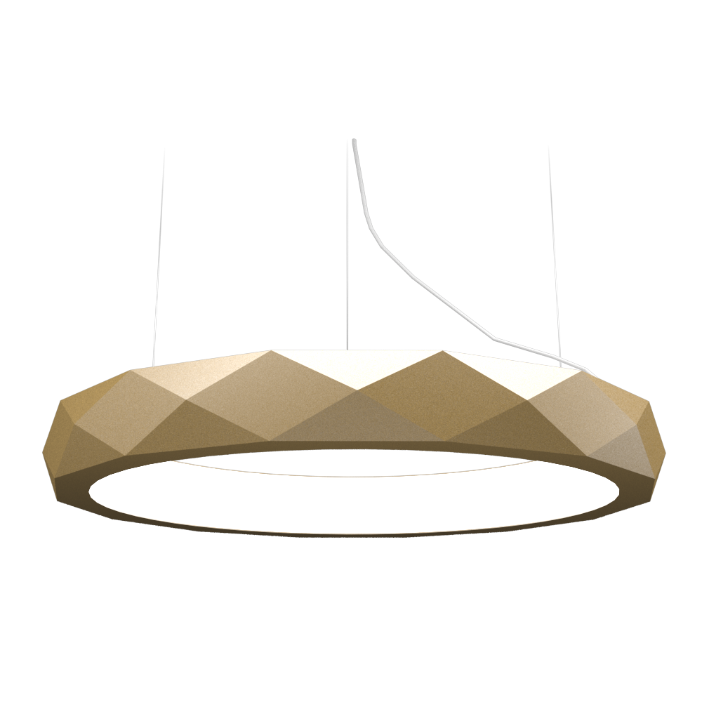 Pendant Lamp Accord Facetado 1357 - Facetada Line Accord Lighting | Pale Gold