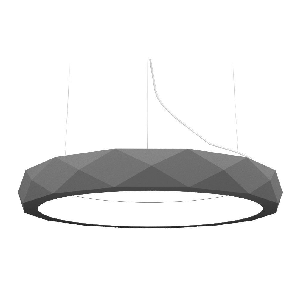 Pendant Lamp Accord Facetado 1357 - Facetada Line Accord Lighting | Lead Grey
