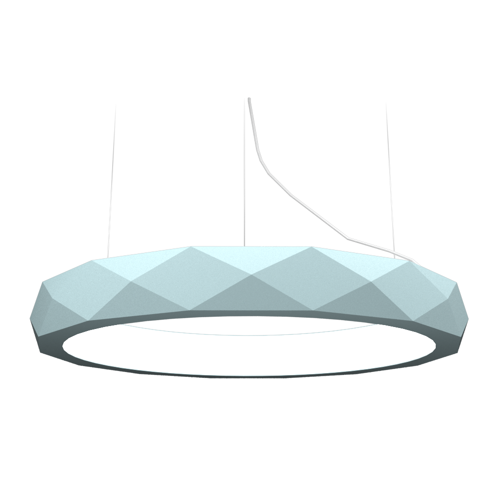 Pendant Lamp Accord Facetado 1357 - Facetada Line Accord Lighting | Satin Blue