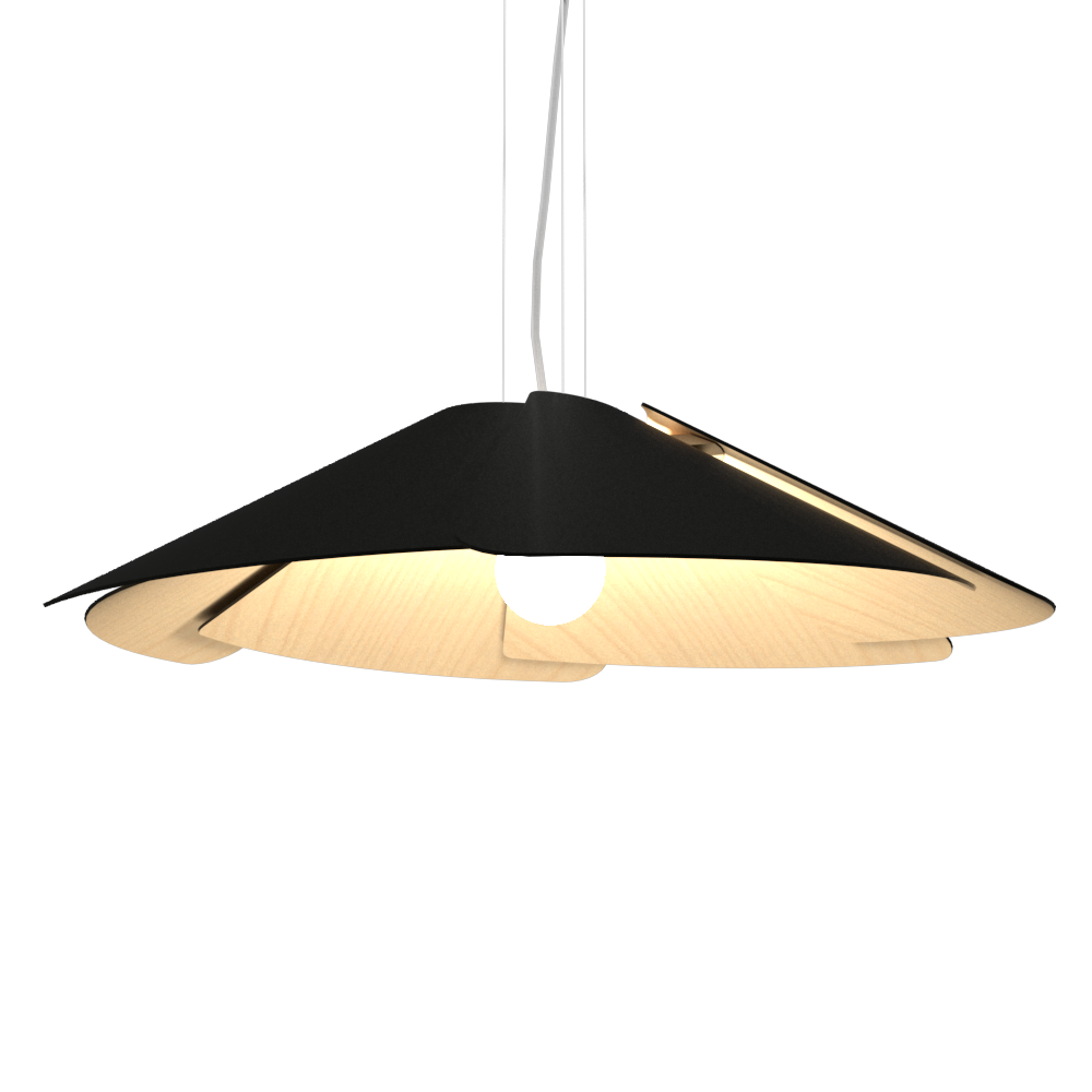 Pendant Lamp Accord Fuchsia 1365 - Fuchsia Line Accord Lighting | 02. Matte Black